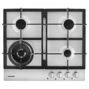 Grundig GIGM6234150 60cm Stainless Steel Gas hob